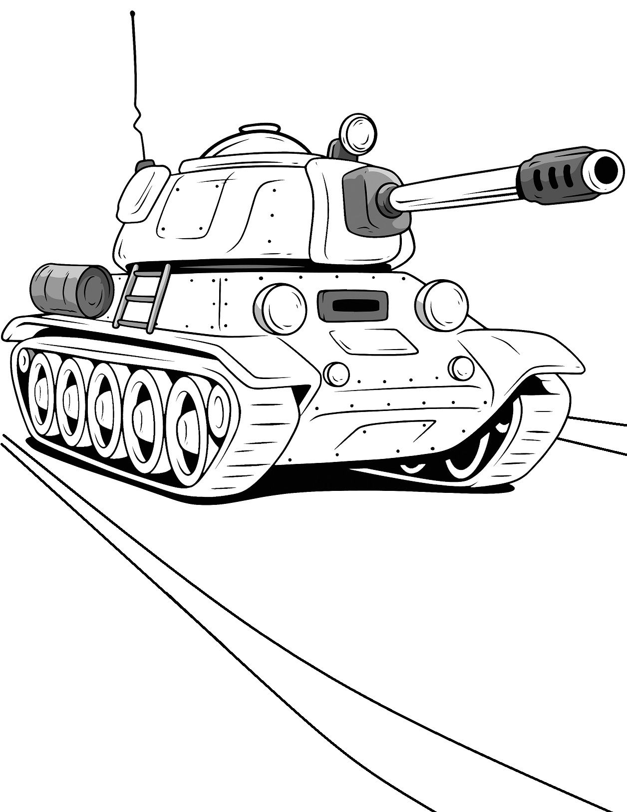 New Military Coloring Book With Tanks And Armored Vehicles