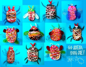 Bugs From Recycled Materials Holidays Earth Day Collaborative