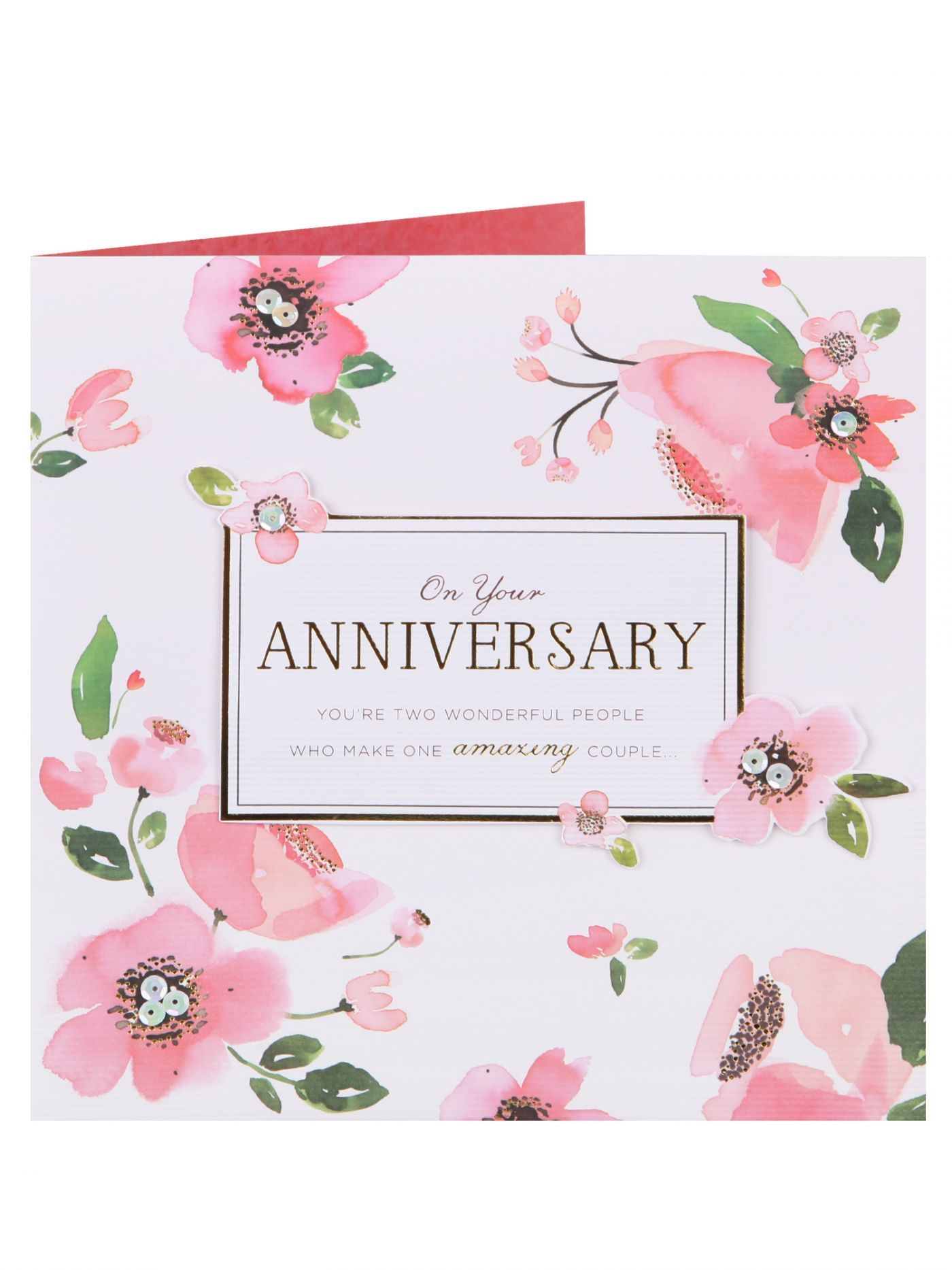 Amazing Couple Floral Anniversary Card Clintons