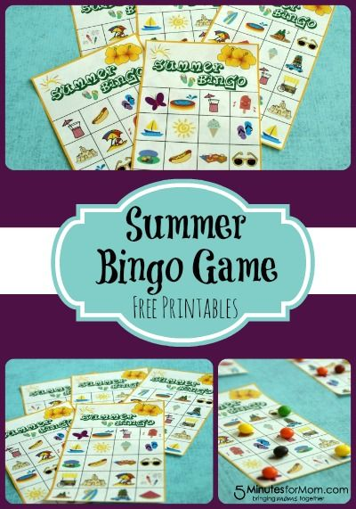 Summer Bingo Game With Free Printables With Images Summer Bingo