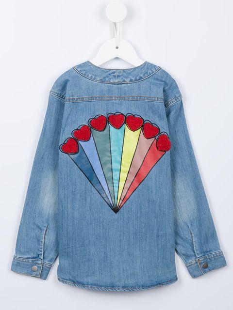 Stella Mccartney Kids appliqué denim shirt