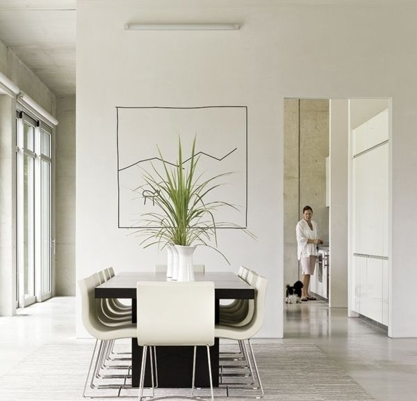 Minimalistische Einrichtungsideen Weises Esszimmer  steensrunningclub