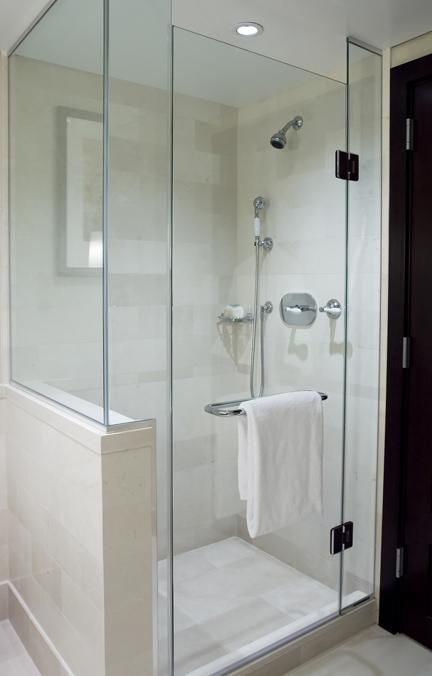 Bathroom Remodel Shower Door And Half Wall Bathroom Remodel Shower Shower Doors Glass Shower