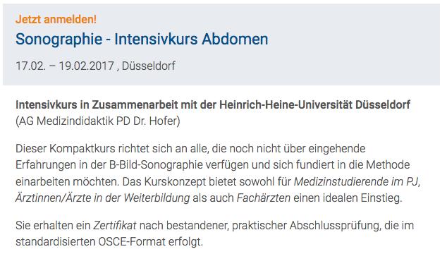 MBSeminar: Sonographie - Intensivkurs Abdomen   Seminare ...