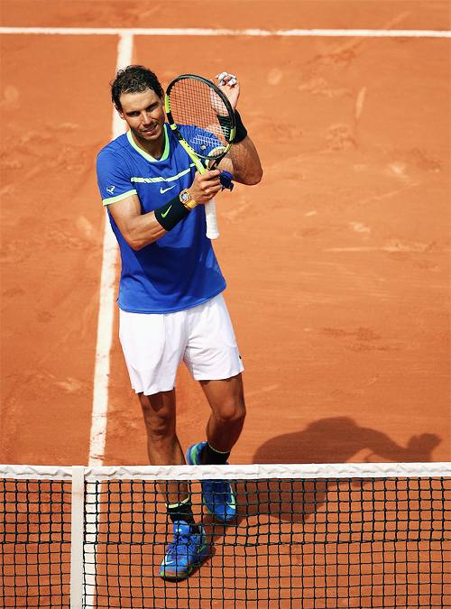 why you say vamos? say allez! — Rafael Nadal d. Benoit Paire of ...