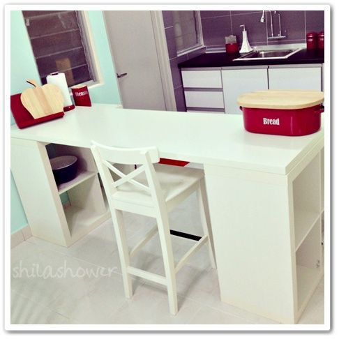 Ikea Hacker   Kitchen Breakfast Bar/Divider |Mrs.Kown