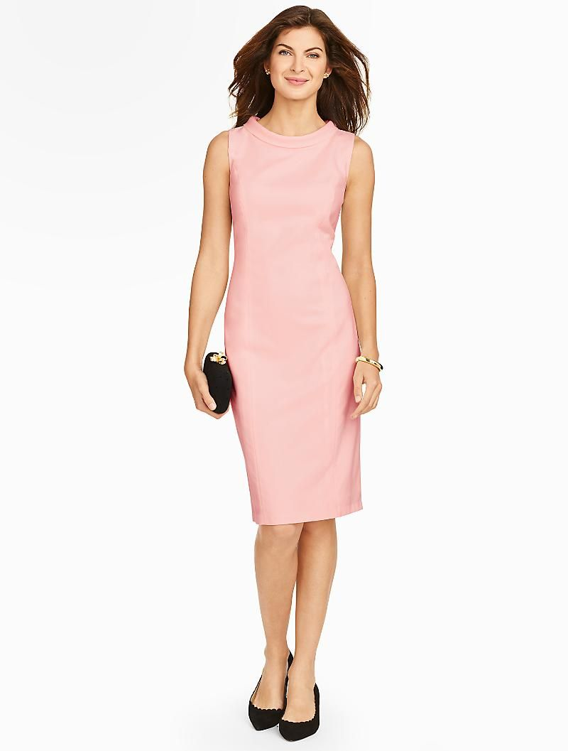 Talbots - Italian Flannel Portrait Collar Sheath Dress | Suits and ...