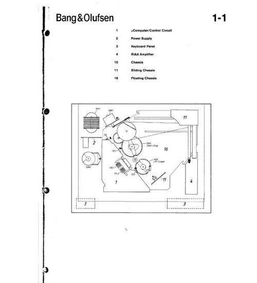 Bang & Olufsen Beogram 59XX turntable Service Manual