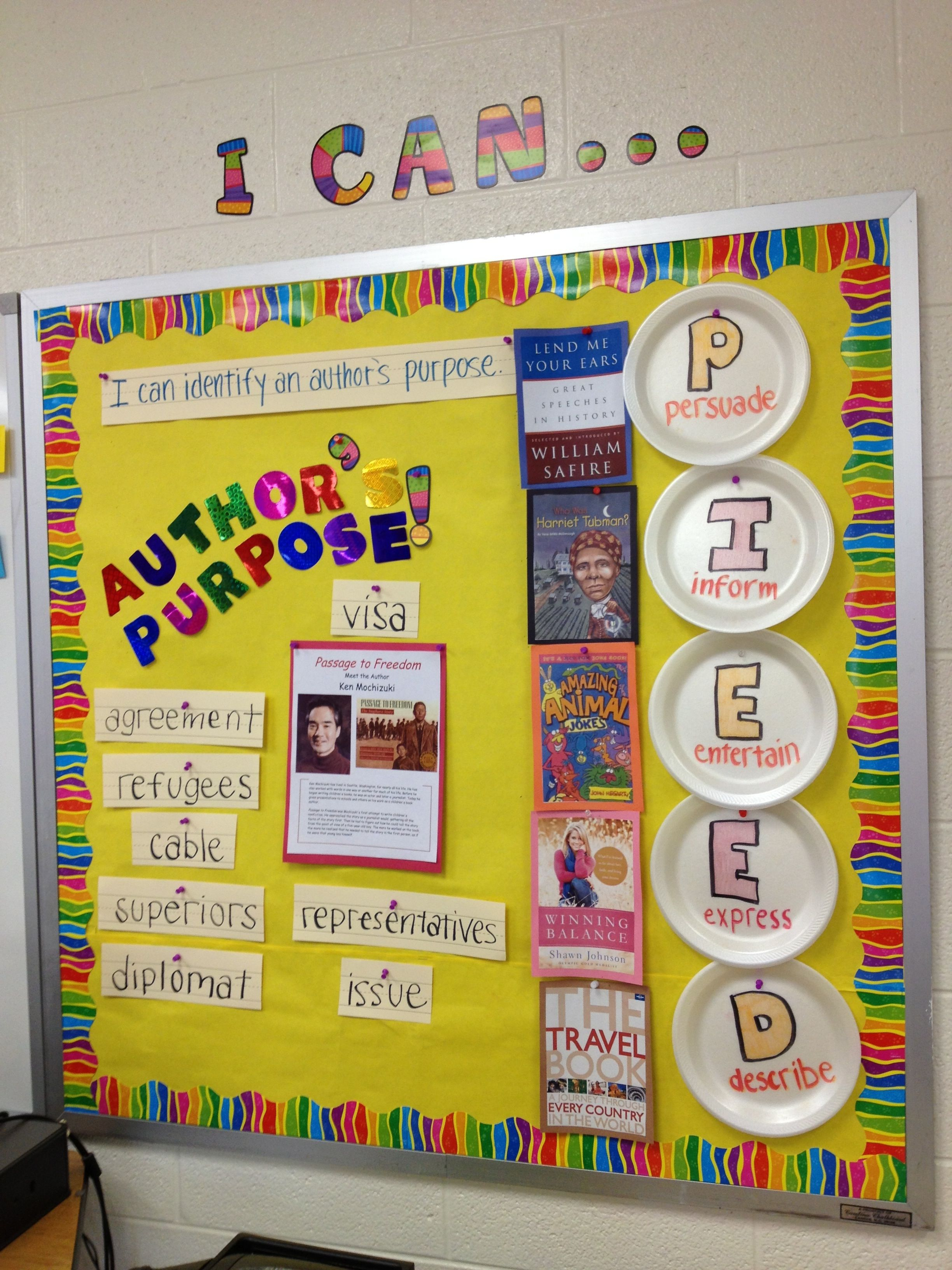 Author S Purpose Bulletin Board In My Classroom