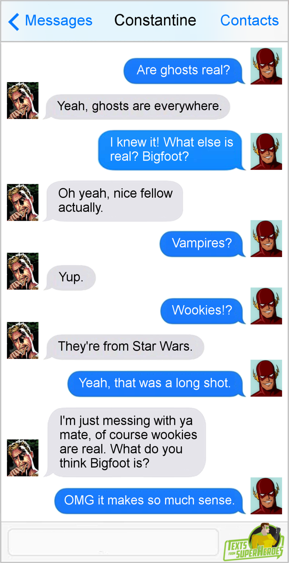 Texts From Superheroes Facebook | Twitter | Patreon | Marvel and DC