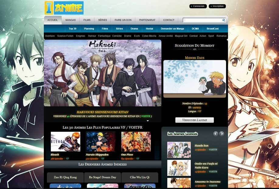 20 Meilleurs Sites pour Regarder Animes Streaming VF