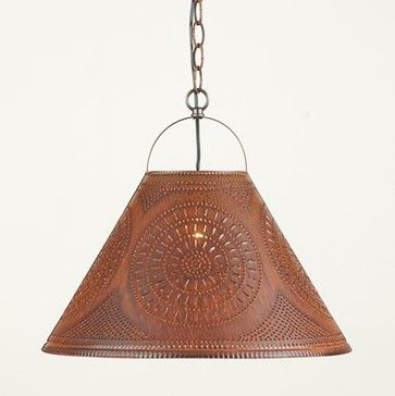 primitive lighting ideas. Primitive Kitchen Lighting Ideas | Punched Tin Shade Light In Rustic