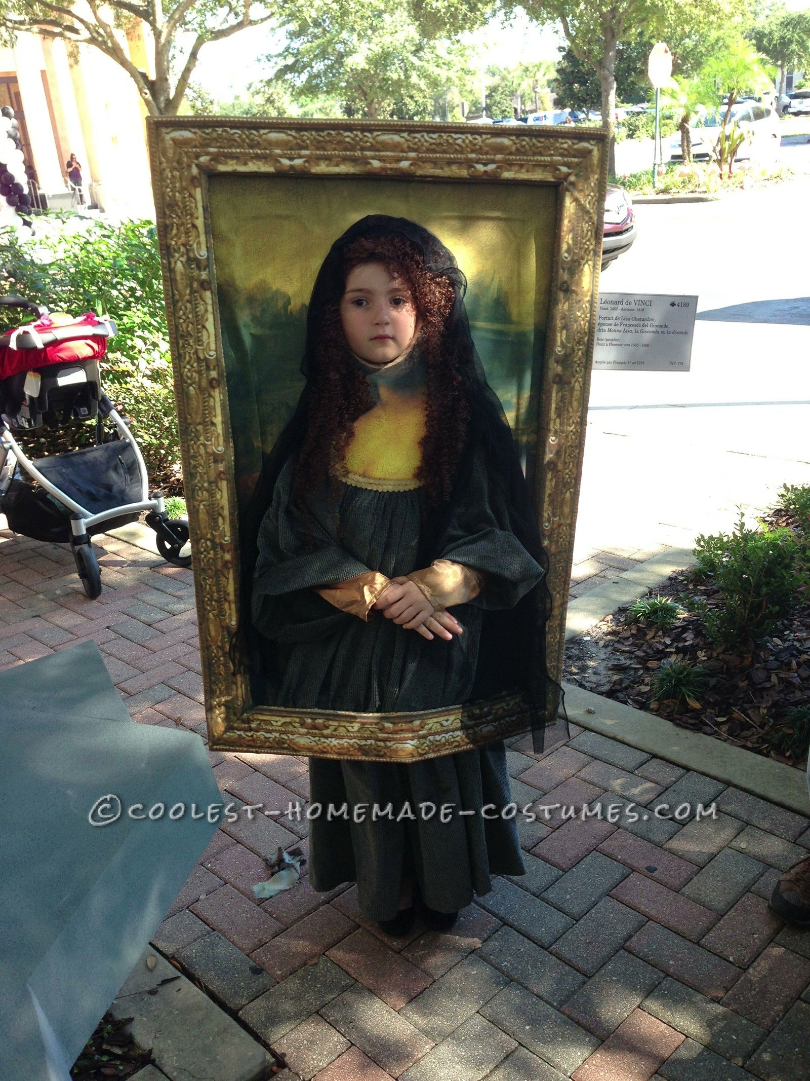 original diy costume idea mona lisa diy costumes mona lisa and halloween costume contest. Black Bedroom Furniture Sets. Home Design Ideas