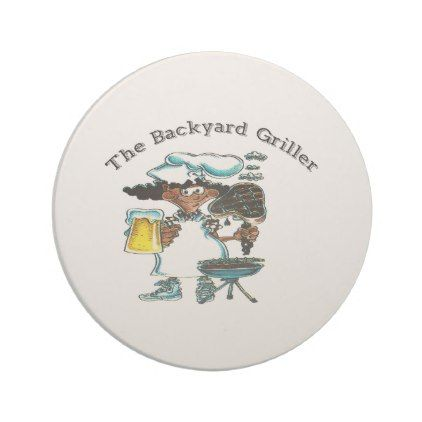 Backyard Griller Dad Sandstone Coaster