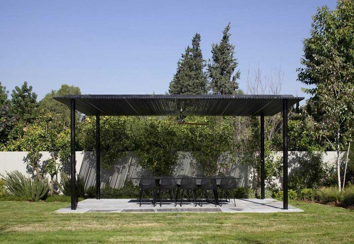 Villa con piscina contemporanea a Tel Aviv Jardin maison