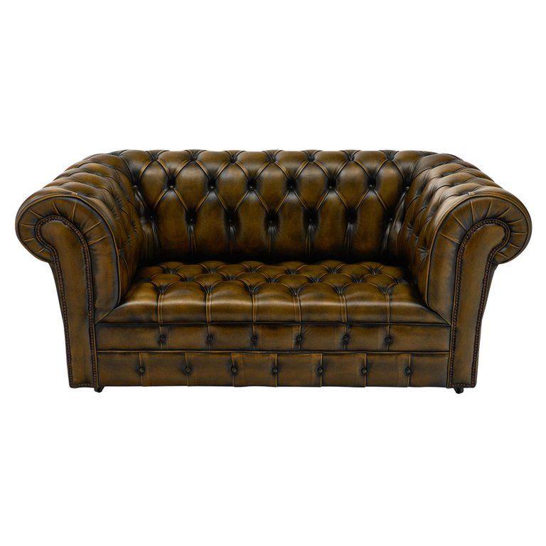 1stdibs Leather Vintage Sofa Chesterfield English Loveseat Leather Chesterfield Leather Chesterfield Sofa Leather Chesterfield Couch