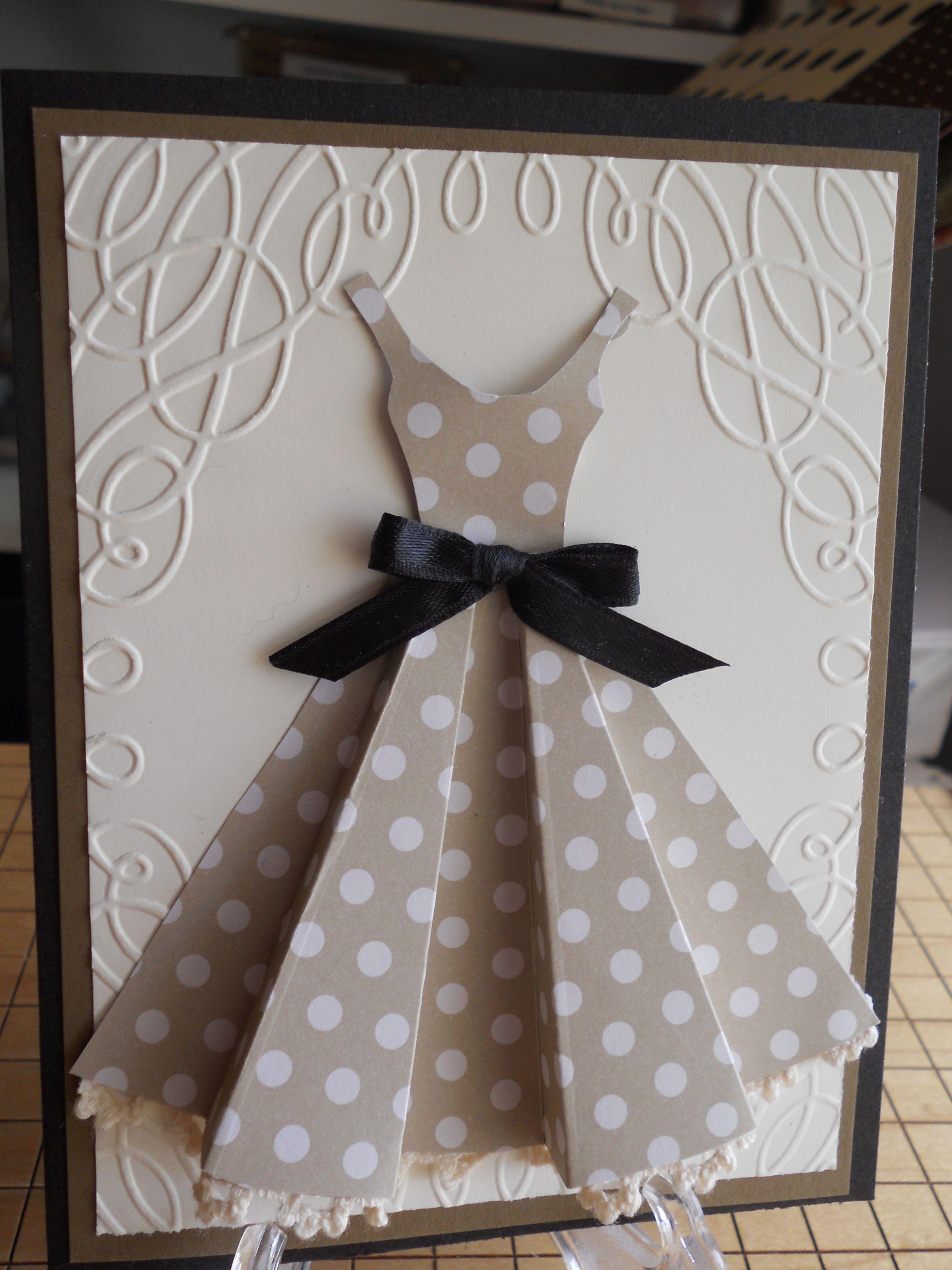 Открытка платье своими руками пошаговая инструкция, картинки