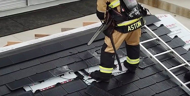 Watch a Tesla Solar Roof being dismantled in first