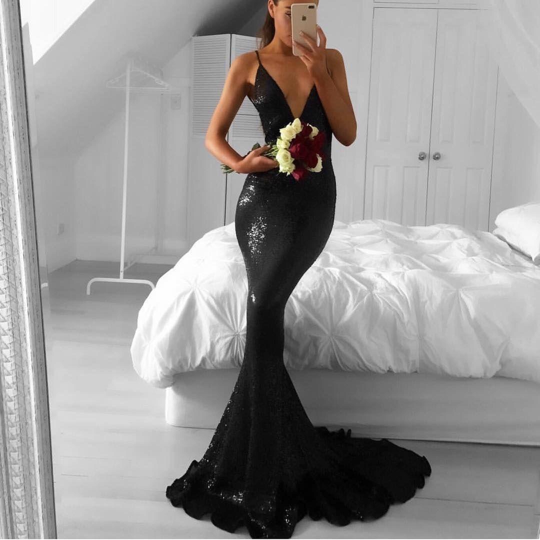Sequins prom dressmermaid prom dressfashion prom dresssexy party