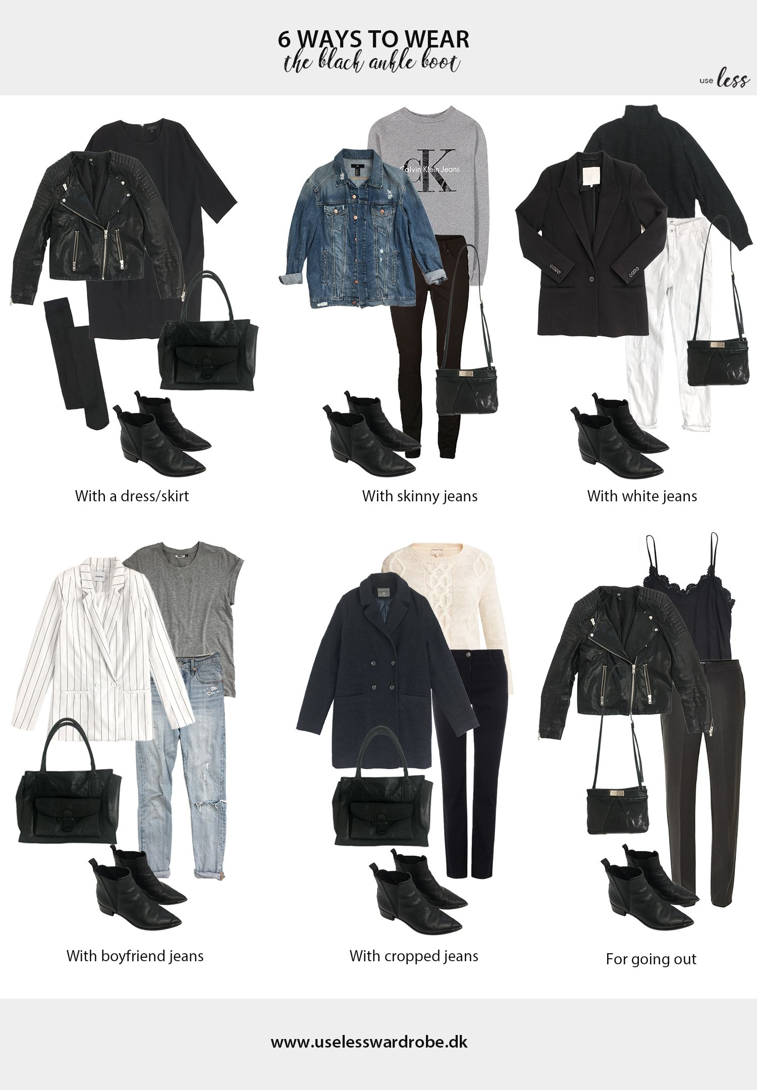 6 ways to wear: the black ankle boot.   capsule   Winter ...