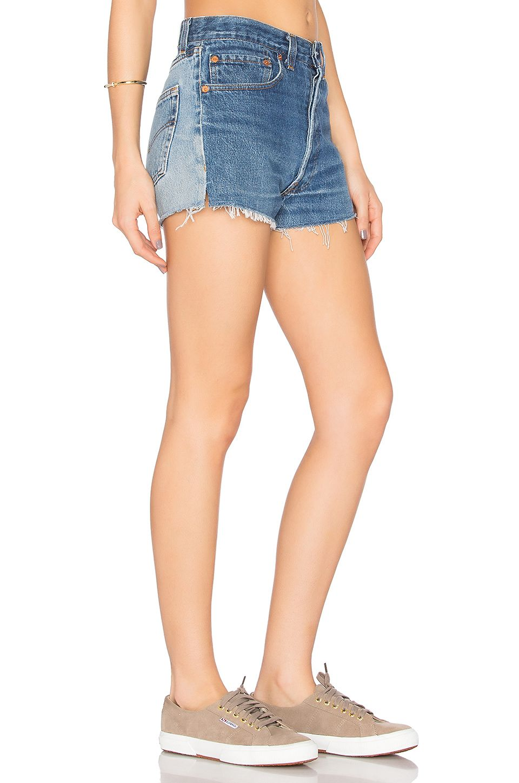 OULIU-Women High Rise Ripped Destroyed Fringe Denim Shorts Jeans