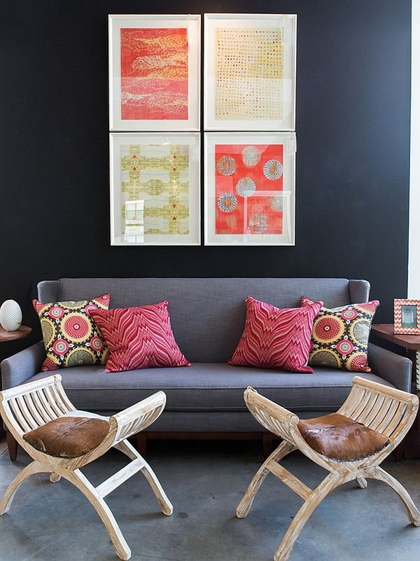 Ordinaire Colorful Wall Art And Bohemian Style Throw Pillows Enliven The Space  Unleash Some Old World Charm With A Dash Of Bohemian Brilliance