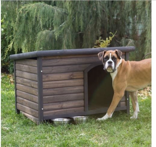 Large Dog House Outdoor Pet Shelter All Weather Wood Kennel Free