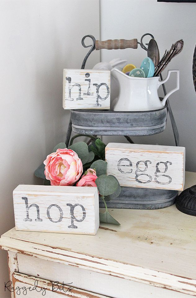 how to make farmhouse easter blocks scrap wood crafts on easy diy woodworking projects to decor your home kinds of wooden planters id=27179