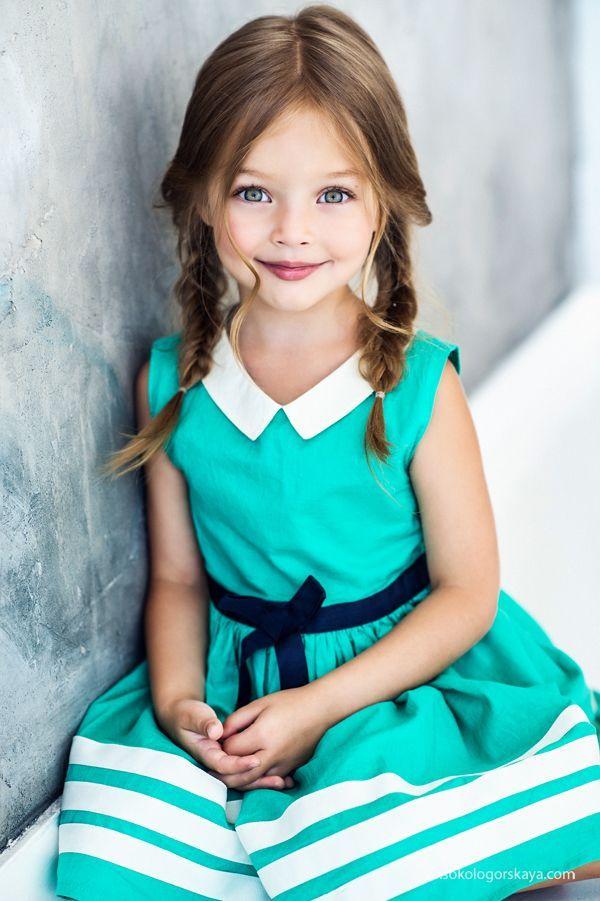 collar shape girl vintage style dress แฟชั่นเด็ก ลูก