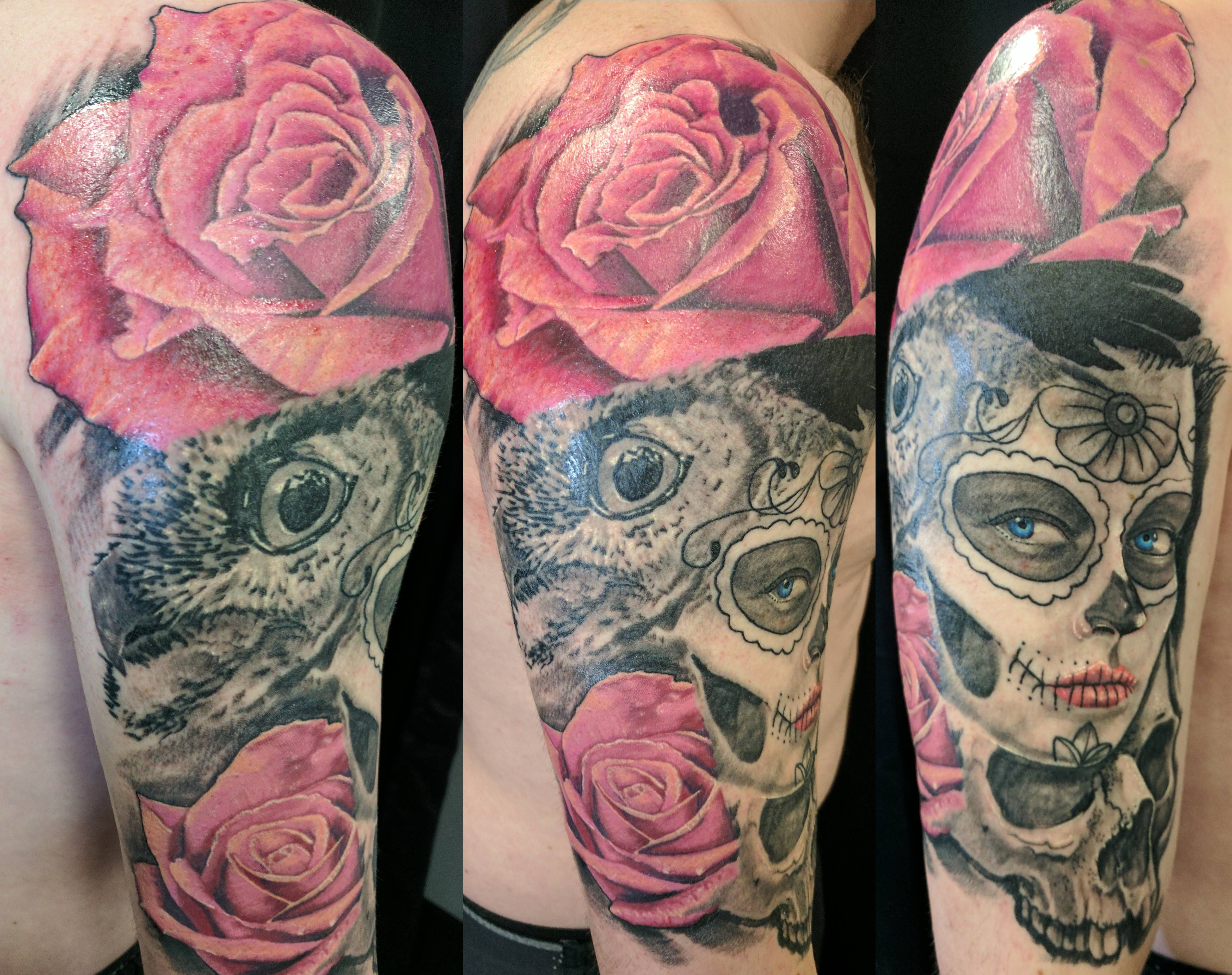 day of the dead quarter sleeve done by ben butler