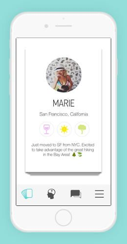 Friend swipe app