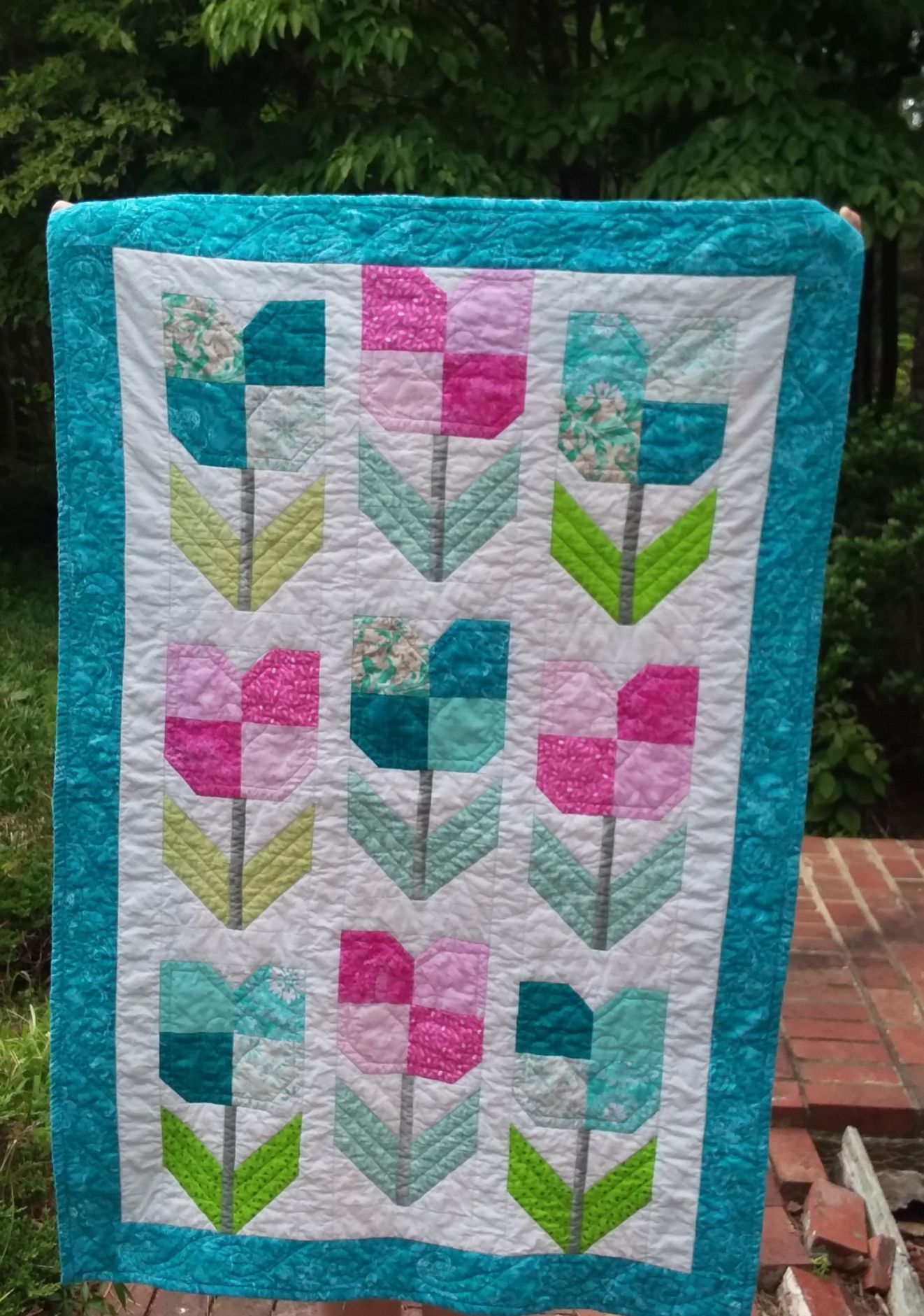 Image result for totally tulips quilt pattern quilting