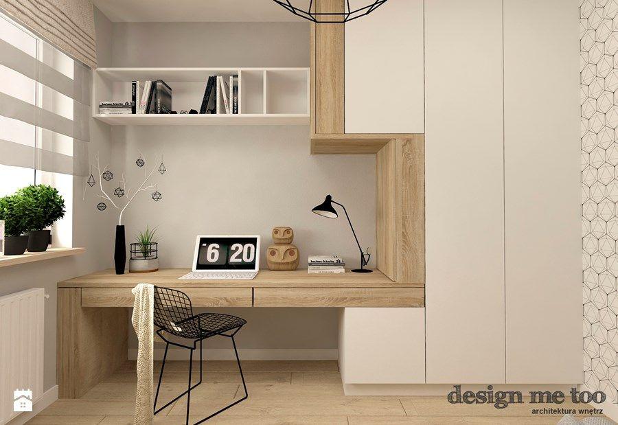SKANDYNAWIA W NOWOCZESNYM WYDANIU NA WOLI - Gabinet, styl - Small Room Interior Design