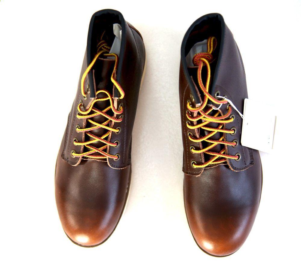 a7ba556c5648 2017 Micholediys Handmade All-mating Vintage csipke fel Bőr Mens platform  Barna cipők Vörös Lélegző szárny Work Shoes USA