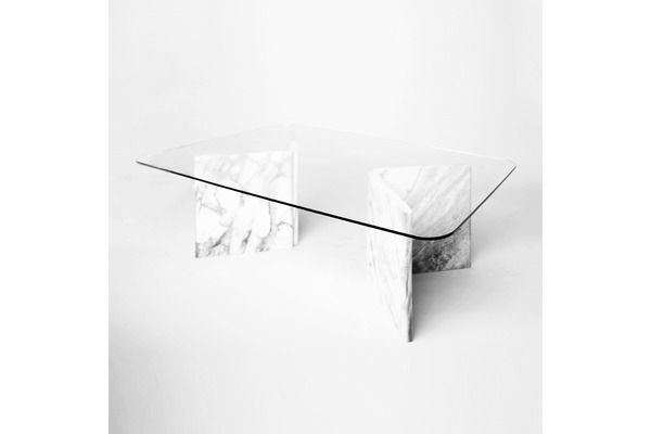 Carrara Marble Coffee Table With Glass Top Glass Top Coffee