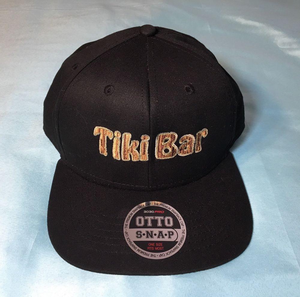 8e5170f07 Rare Mens Otto Snapback Cap Hat 3030 Pro Black One Size