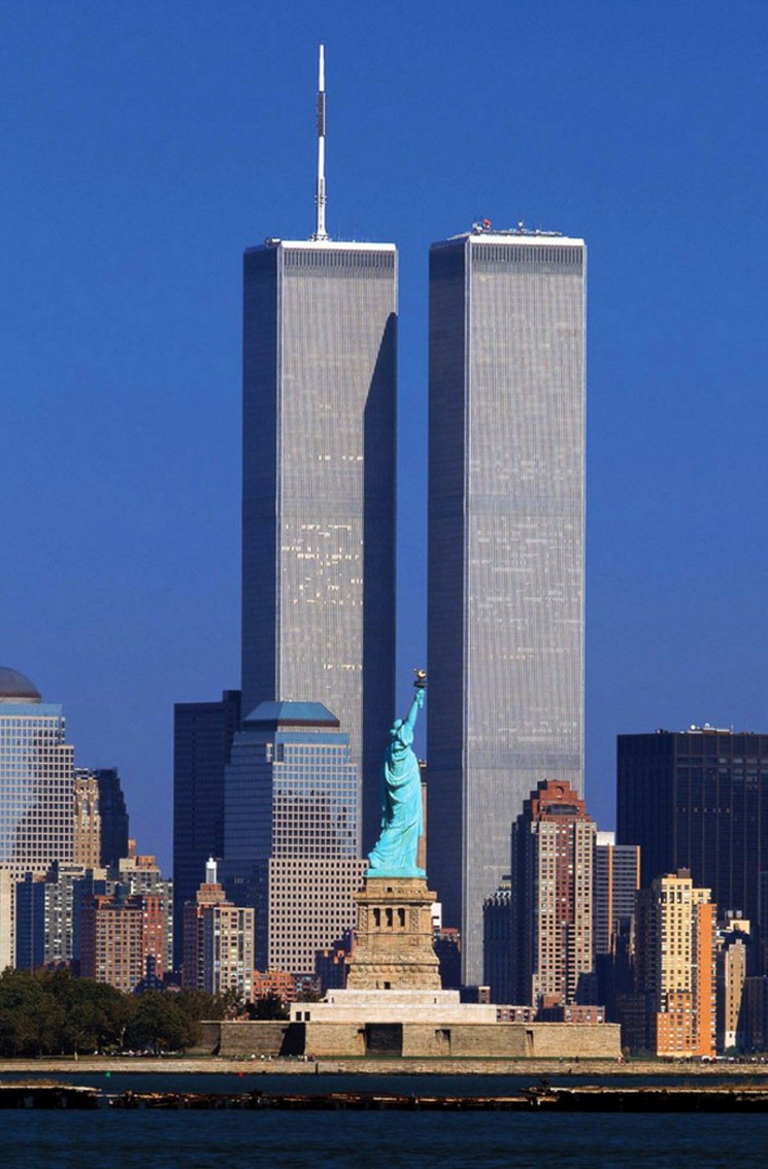 Forget 9-11-01. Twin Towers And Statue Of Liberty. Forgotten