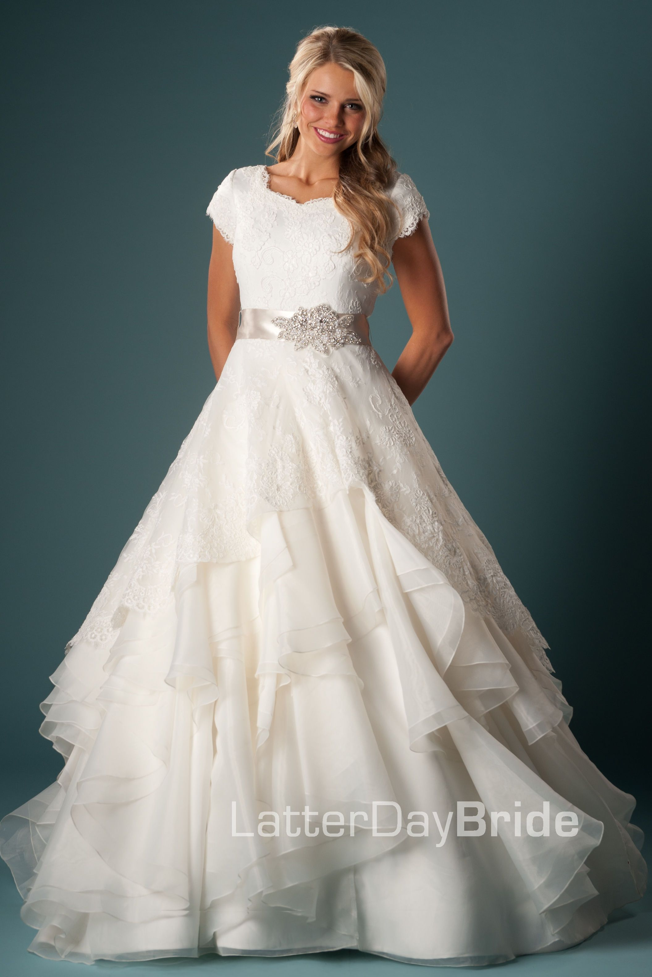 Very Pretty Skirt As Well Perfectly Modest Wedding Dress: Very Modest Wedding Dress At Websimilar.org