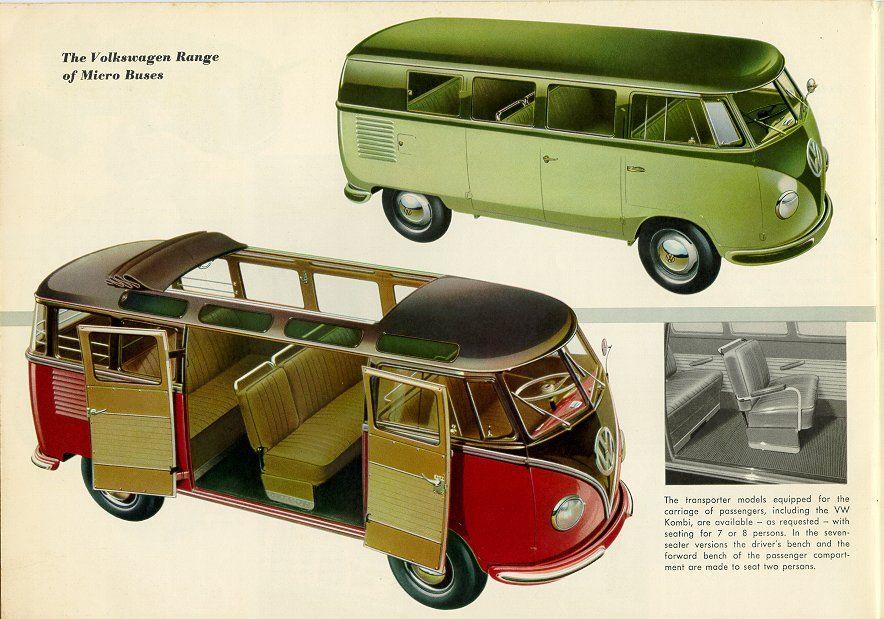 Volkswagen T1 range of micro buses