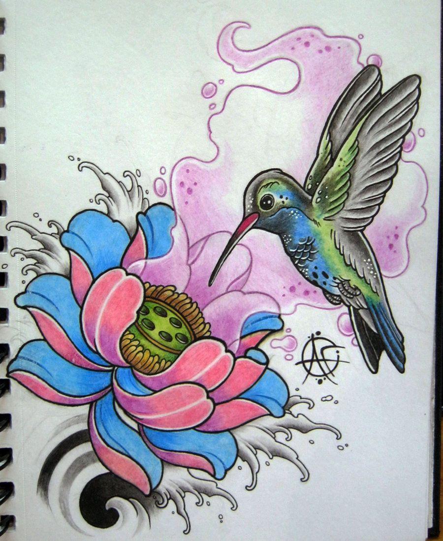 Hummingbird Tattoo Design By Frosttattoodeviantartcom On