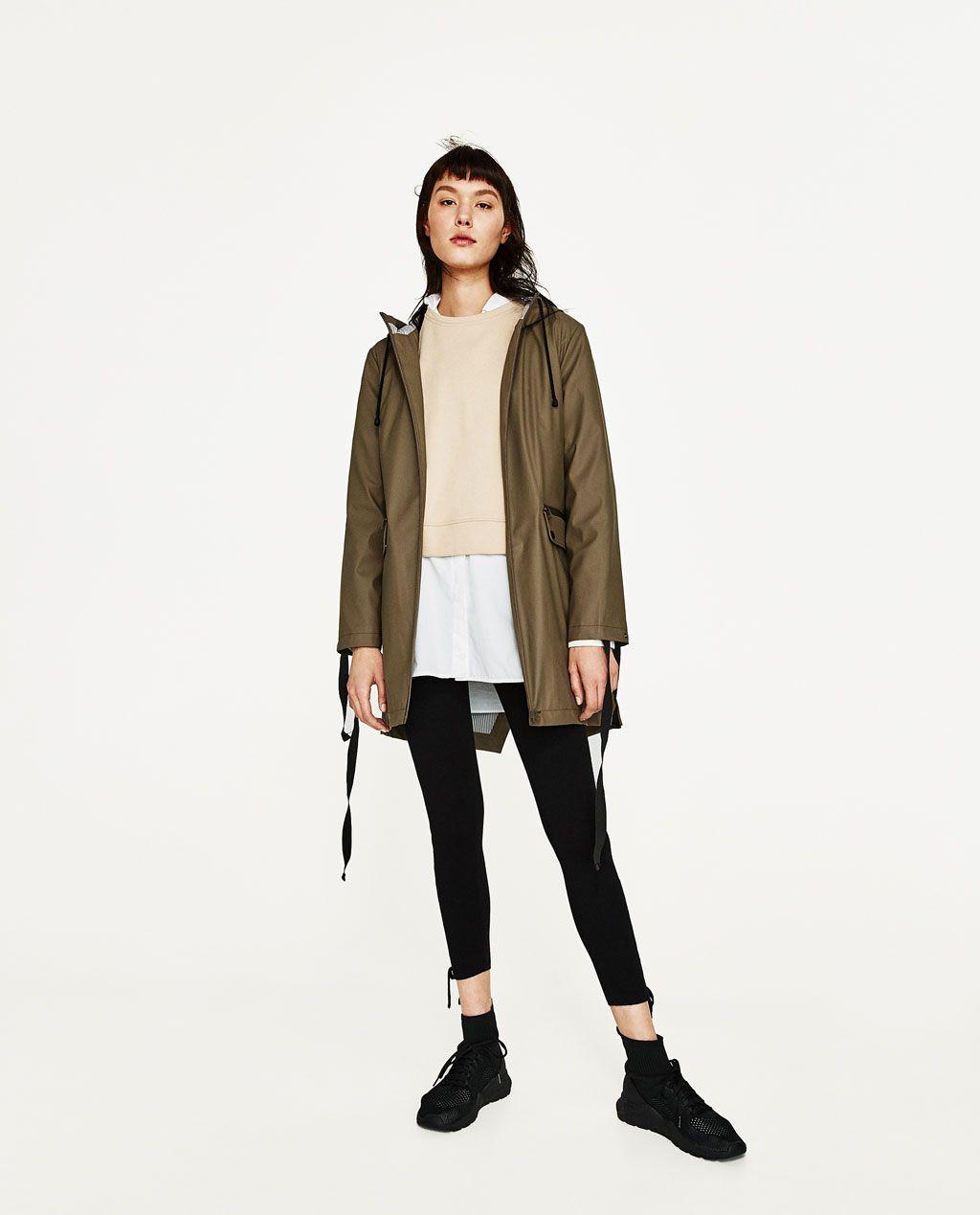 1bda6c52 ZARA - WOMAN - WATER REPELLENT PARKA Watch Sale, Next Clothes, Zara Women,