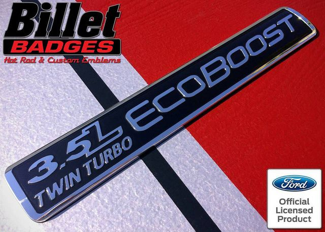 2 NEW CUSTOM BLACK /& RED F150 RAPTOR 3.5L ECOBOOST TWIN TURBO DOOR BADGES