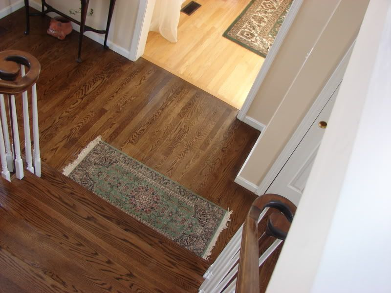 We 39 re in the process of choosing hardwoods for the for Different flooring ideas