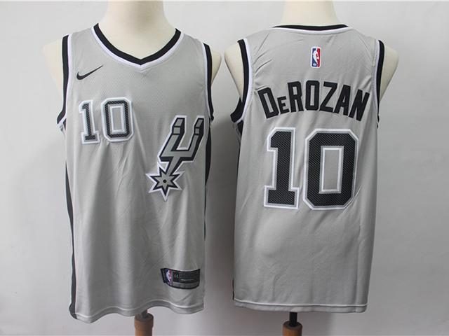 uk availability 617fc 648c5 San Antonio Spurs #10 DeMar DeRozan Gray Swingman Jersey ...