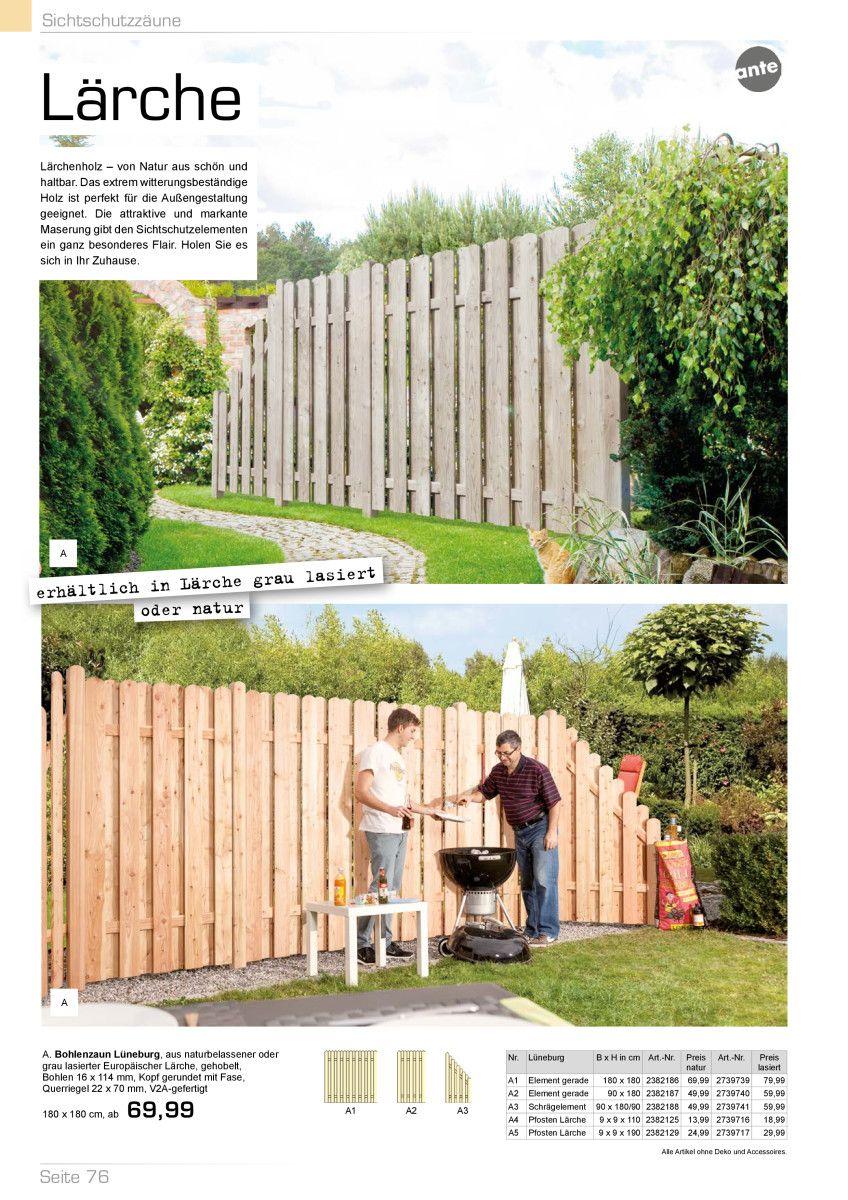 Garten Katalog kwp Baumarkt Sichtschutz im Garten