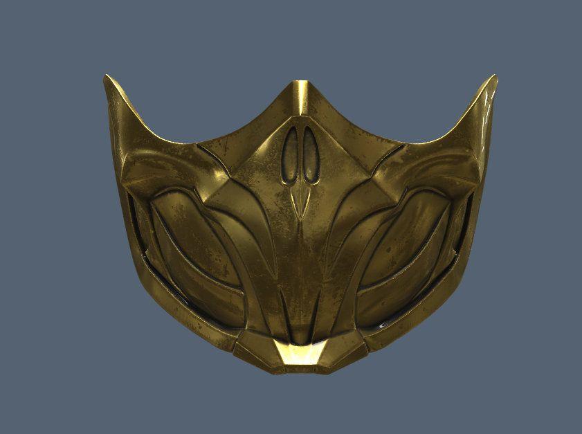 Mortal Kombat mask Scorpion 3d printed Mortal kombat 11