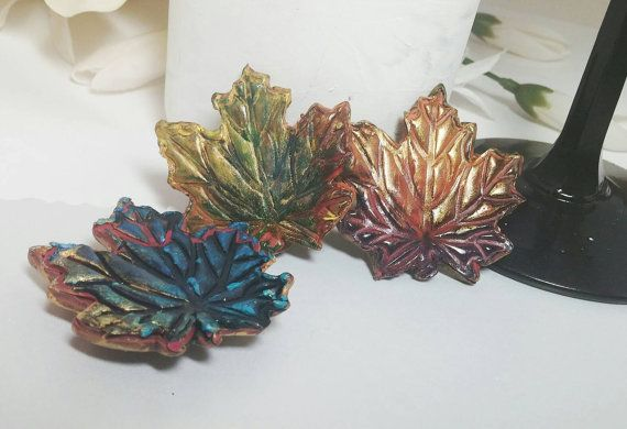 Check out this item in my Etsy shop https://www.etsy.com/listing/459200524/leaf-magnets-refrigerator-magnets-fall