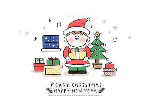 크리스마스 카드에 있는 람이 Tv님의 핀 크리스마스 카드 크리스마스 트리 크리스마스 배경 이미지
