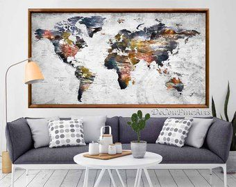 Large world map wall art poster printworld mappush pin mapworld large world map wall art poster printworld mappush pin mapworld map printworld map artworld map decalworld map rusticworld map travel maps gumiabroncs Image collections