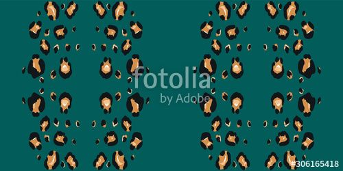 Green Jaguar Vector Seamless Pattern Swamp